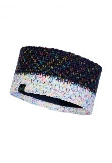 Buff---Knitted-Polar-Headband-Janna-for-adults---Nightblue/Multi