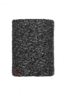 Buff---Knitted-Polar-Tube-scarf-Agna-for-adults---Dark-Grey/Black