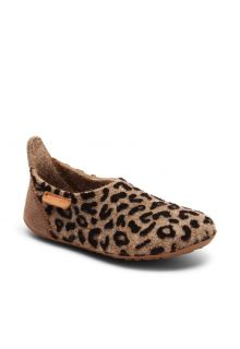Bisgaard---Home-shoe-for-babies---Basic-wool---Brown-Leopard
