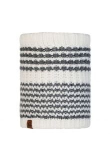 Buff---Knitted-Polar-Tube-scarf-Kostik-for-adults---White/Grey
