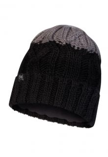 Buff---Knitted-Polar-Hat-Ganbat-for-children---Black/Grey