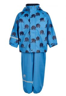 CeLaVi---Rainwear-suit-with-Elefant-print-for-kids---Blue