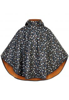 CeLaVi---Raincape-with-fleece-for-girls---Flowers---Dark-blue