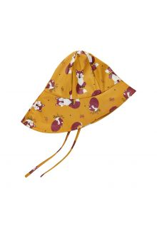 CeLaVi---Rain-hat-with-fleece-for-kids---Fox---Mineral-yellow