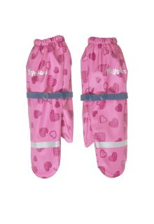 Playshoes---Rain-gloves-with-fleece-lining-for-girls---Hearts---Pink