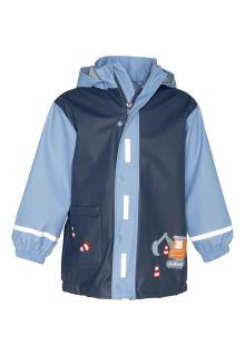 Playshoes---Raincoat-for-boys---Construction-site---Blue