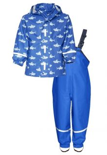 Playshoes---Rain-Suit-Sharks-Allover---Blue