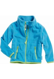 Playshoes---Fleece-jack-with-long-sleeves---Aquablue/Green