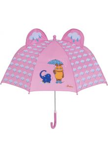 Playshoes---Umbrella-3D-for-kids---Mouse-&-Elephant---Light-pink