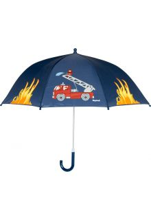 Playshoes---Children's-umbrella-with-Firetruck---Navy