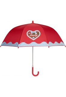 Playshoes---Children's-umbrella-with-Heart-&-Dots---Red