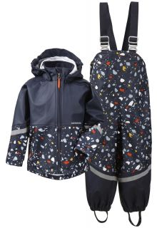 Didriksons---Rain-suit-for-children---Waterman-Printed---Darkblue