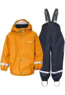 Didriksons---Rain-suit-set-5-for-babies---Slaskeman---2-Color---Burnt-Glow