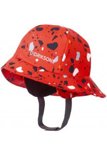 Didriksons---Rain-hat-for-children---Southwest-Printed---Poppy-Red