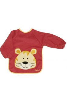 Playshoes---Sleeve-bib-with-long-sleeves-for-kids---Onesize---Red