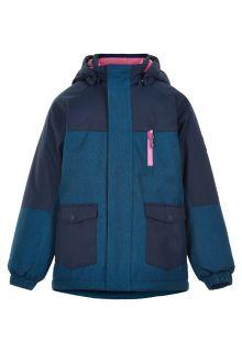 Color-Kids---Parka-jacket-for-girls---Melange---Dark-blue