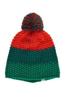Color-Kids---Beanie-for-children---Stripes---Cadmium-Green