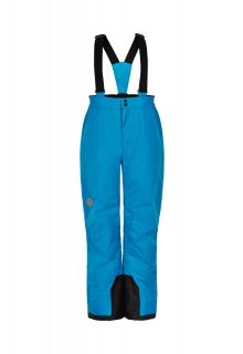 Color-Kids---Ski-pants-with-fixed-suspenders-for-children---Solid---Surf-Blue