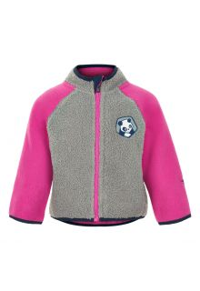 Color-Kids---Fleece-jacket-for-babies---Colorblock---Grey/Pink