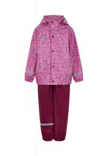 Color-Kids---Rainsuit-for-girls---AOP---Fuchsia-Pink