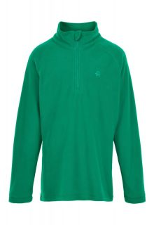 Color-Kids---Fleece-pullover-with-half-zip-for-children---Solid---Golf-Green