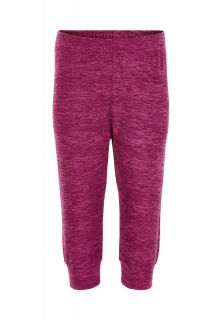 Color-Kids---Fleece-pants-for-babies---Melange---Beet-Red