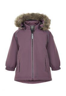 Color-Kids---Parka-jacket-for-baby-girls---Solid---Arctic-Dusk