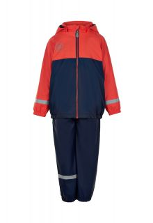 Color-Kids---Rainsuit-with-fleece-for-children---Colorblock---Red