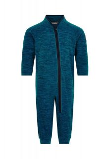 Color-Kids---Fleece-overall-for-babies---Melange---Dark-blue