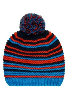 Color-Kids---Beanie-with-fleece-for-boys---Stripes---Blue-surf