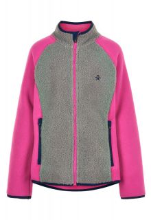 Color-Kids---Fleece-jacket-for-girls---Colorblock---Grey/Pink