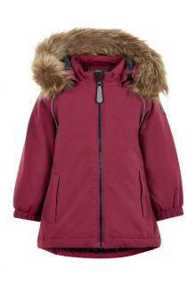 Color-Kids---Parka-jacket-for-baby-girls---Solid---Beet-Red