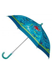 Stephen-Joseph---Umbrella-for-boys---Shark---Light-blue/Dark-blue