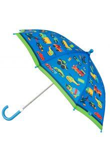Stephen-Joseph---Umbrella-for-boys---Vehicles---Blue/Green