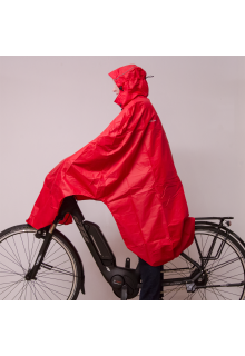 Lowland-Outdoor---Bicycle-poncho-for-adults---Red