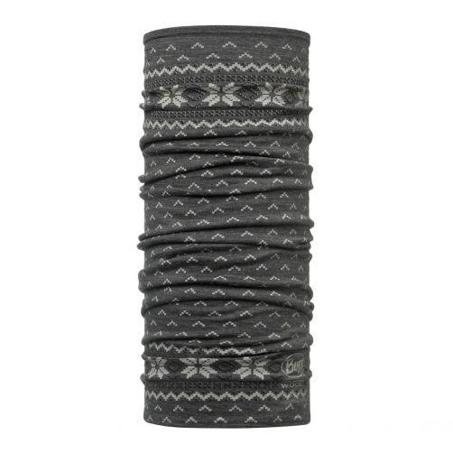 Buff---Lightweight-Merino-Wool-Tube-scarf-Floki-for-adults---Grey