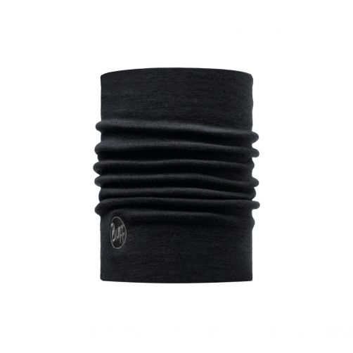 Buff---Heavyweight-Merino-Wool-Solid-Tube-scarf-for-adults---Black