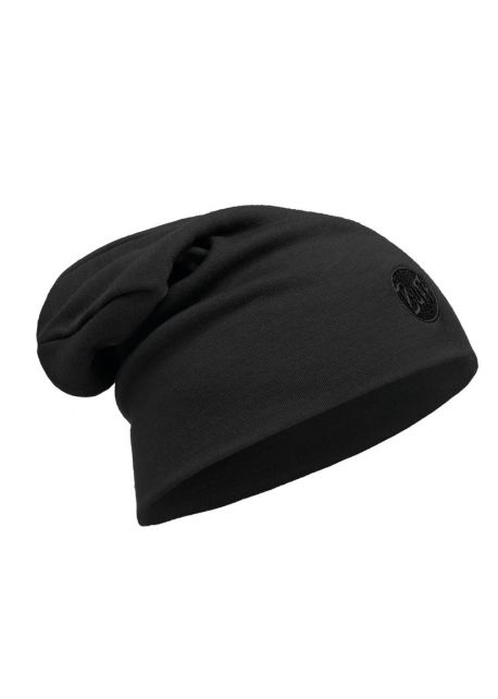 Buff---Heavyweight-Merino-Wool-Solid-Hat-for-adults---Loose---Black