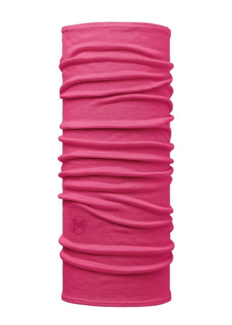 Buff---Lightweight-Merino-Wool-Tube-scarf-Solid-for-children---Pink