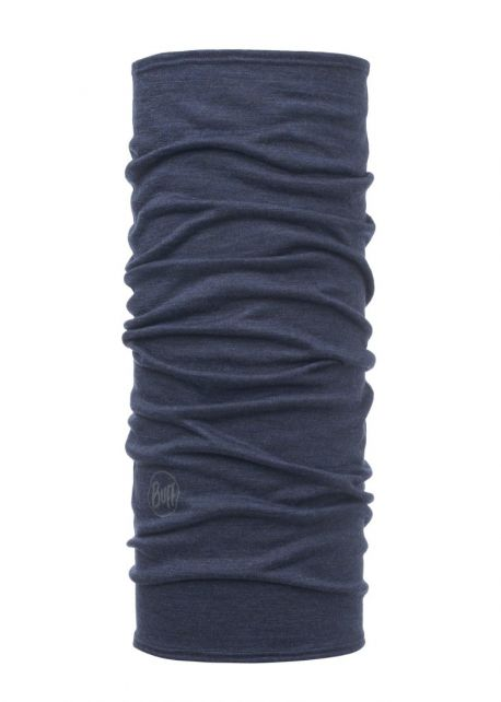 Buff---Lightweight-Merino-Tube-scarf-Solid-for-children---Denim-Blue