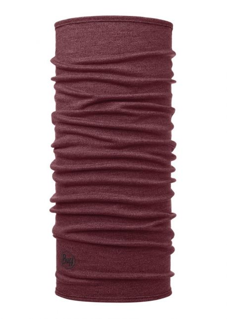 Buff---Midweight-Merino-Tube-scarf-Melange-for-adults---Wine-Red