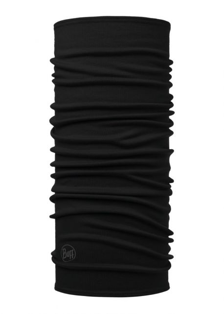 Buff---Midweight-Merino-Wool-Tube-scarf-Solid-for-adults---Black