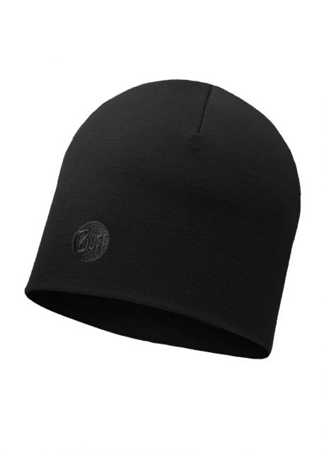 Buff---Heavyweight-Merino-Wool-Solid-Hat-for-adults---Regular---Black
