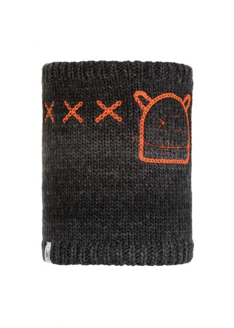 Buff---Knitted-Polar-Tube-scarf-Jolly-Monster-for-children---Grey