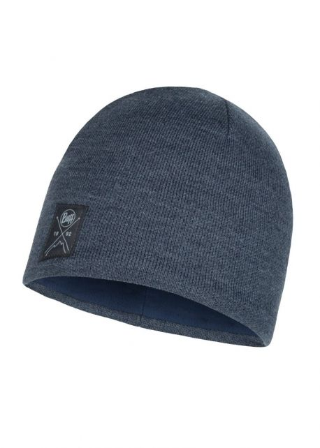 Buff---Knitted-Polar-Solid-Hat-for-adults---Navy