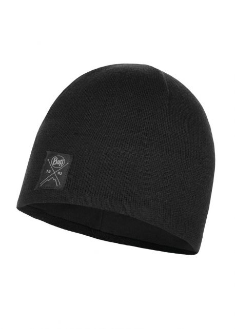 Buff---Knitted-Polar-Solid-Hat-for-adults---Black