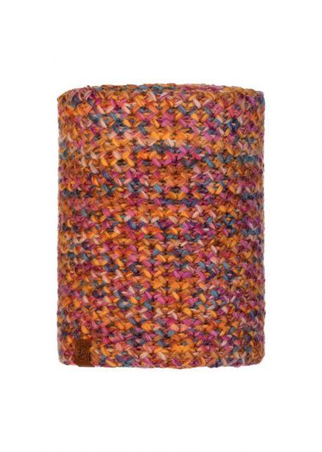 Buff---Knitted-Polar-Tube-scarf-Margo-for-adults---Orange