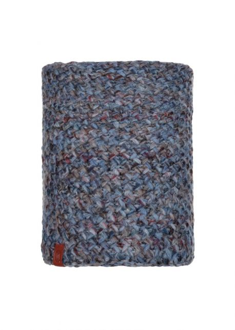 Buff---Knitted-Polar-Tube-scarf-Margo-for-adults---Blue