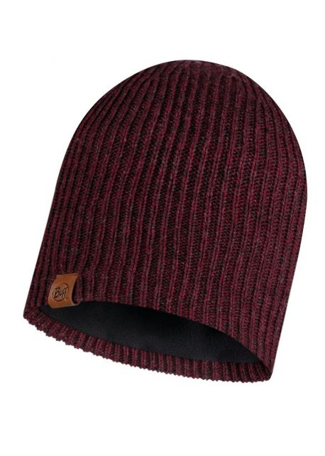Buff---Knitted-Polar-Hat-Lyne-for-adults---Maroon