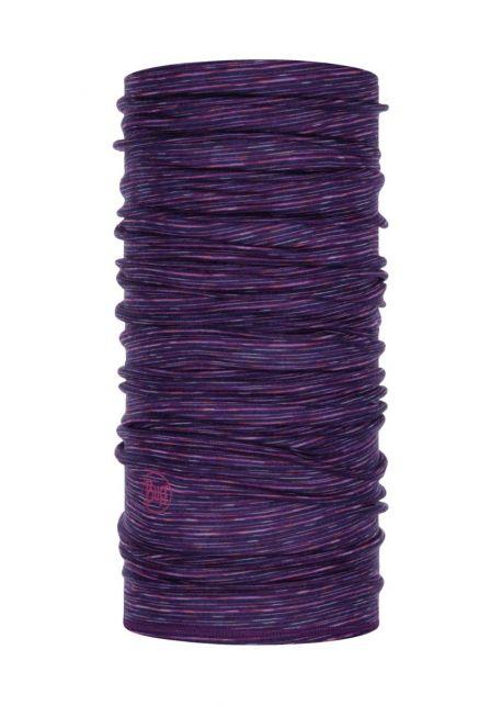 Buff---Lightweight-Merino-Tube-scarf-Stripes-for-adults---Purple/Multi